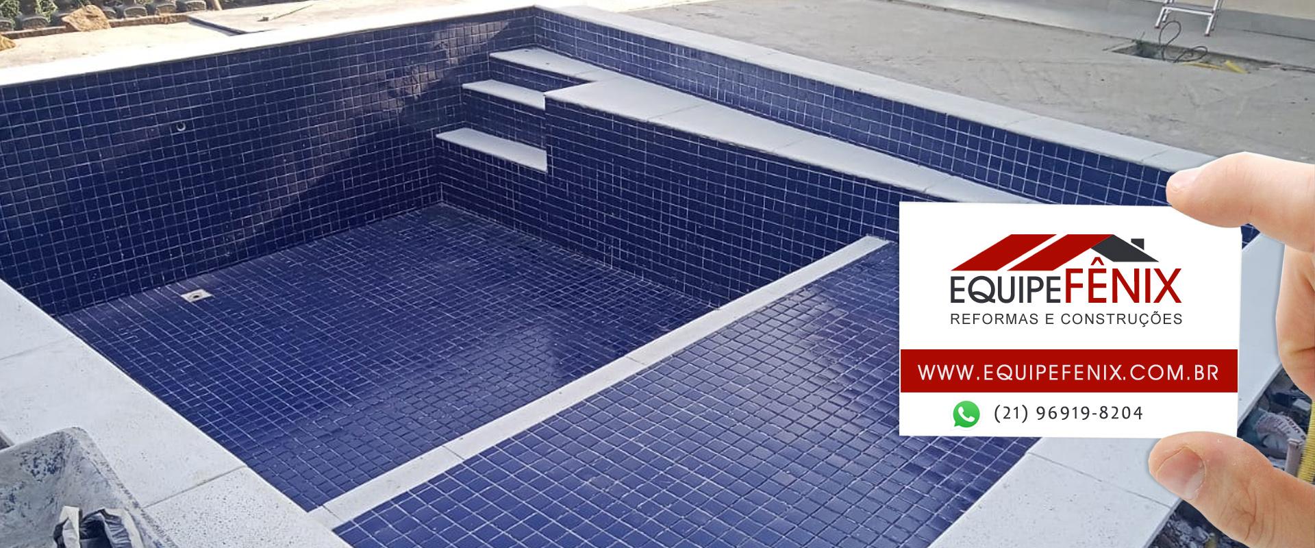 Construção de piscinas e casas
